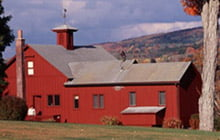 Image of a red barn at the Norman Rockwell Museum